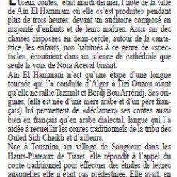 Nora Aceval à Aïn El Hammam