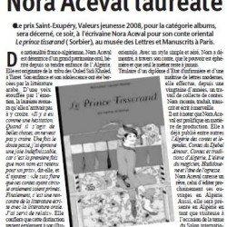 Prix Saint-Exupéry : Nora Aceval lauréate
